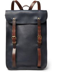 Bleu De Chauffe - Full-grain Leather Backpack - Lyst