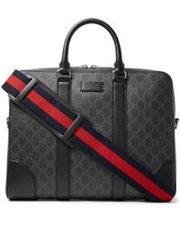 f771c4bd5a6a Gucci - Leather-trimmed Monogrammed Coated-canvas Briefcase - Lyst