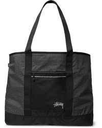 Stussy - Checked Ripstop-shell Tote Bag - Lyst