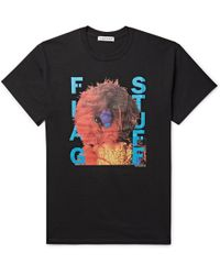 Flagstuff - Printed Cotton-jersey T-shirt - Lyst