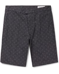 Officine Generale - Julian Slim-fit Cotton-jacquard Shorts - Lyst
