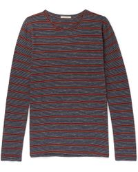 Nudie Jeans - Orvar Striped Organic Cotton T-shirt - Lyst
