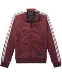 Prada Webbing-trimmed Tech-jersey Track Jacket - Red