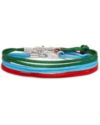 Rubinacci - Set Of Three Silk Ribbon Bracelets One Size - Lyst