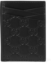 Gucci - Embossed Leather Cardholder - Lyst