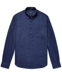Club Monaco - Button-down Collar Linen Shirt - Lyst