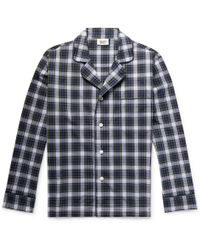 Sleepy Jones - Lowell Checked Cotton-poplin Pyjama Shirt - Lyst