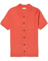 You As - Harvey Slim-fit Ribbed-knit Shirt - Lyst