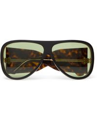 Gucci - Oversized Aviator-style Acetate Sunglasses - Lyst