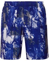 Under Armour - Launch Printed Heatgear And Mesh Shorts - Lyst
