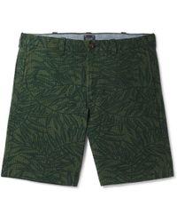 J.Crew - Printed Cotton-seersucker Shorts - Lyst