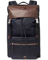 Dunhill - Guardsman Leather And Nylon Backpack - Lyst