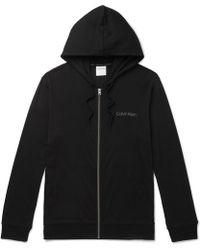 Calvin Klein - Stretch Cotton And Modal-blend Zip-up Hoodie - Lyst