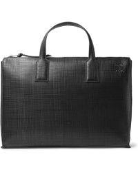 Loewe   - Embossed Leather Briefcase - Black   Lyst
