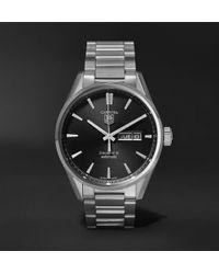 Tag Heuer - Carrera Automatic 41mm Steel Watch - Lyst
