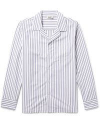 Sleepy Jones - Henry Striped Cotton Pyjama Shirt - Lyst