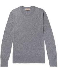 Burberry - Mélange Cashmere Sweater - Lyst