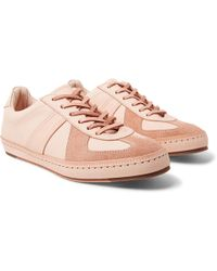 Hender Scheme - Mip-05 Suede-trimmed Leather Sneakers - Lyst