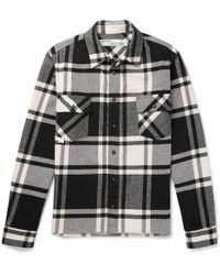 530d7da51589 Off-White c o Virgil Abloh - Printed Checked Cotton-blend Flannel Overshirt