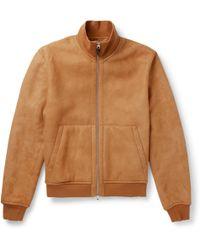 Dunhill - Shearling Blouson Jacket - Lyst