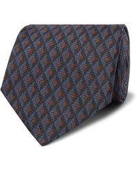 Dunhill - 8cm Textured Mulberry Silk-jacquard Tie - Lyst