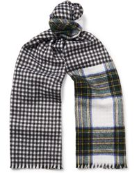 Berluti - Reversible Checked Cashmere Scarf - Lyst