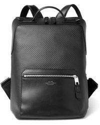 Smythson - Greenwich Leather-trimmed Coated-cotton Backpack - Lyst