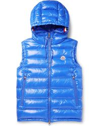 437d76a2a3dd Moncler Lanoux Red Quilted Shell Gilet in Red for Men - Lyst
