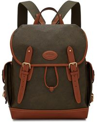 60342d9c1497 Mulberry - Heritage Backpack In Mole And Cognac Scotchgrain - Lyst