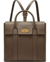 Mulberry - Bayswater Backpack In Clay Small Classic Grain - Lyst