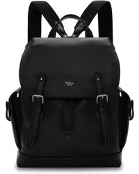 Mulberry - Heritage Backpack In Black Natural Grain Leather - Lyst