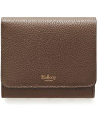 Mulberry Small Continental French Purse In Clay Small Classic Grain