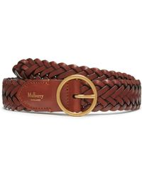 Mulberry - Classic Braided Belt In Caramel Natural Leather - Lyst