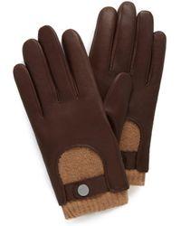 Mulberry - Men's Biker Gloves In Brown Smooth Nappa - Lyst