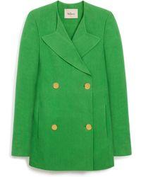 Mulberry - Martha Jacket In Field Green Textured Linen - Lyst
