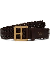 Mulberry - 30mm Boho Buckle Braided Belt In Chocolate Natural Leather - Lyst