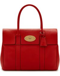 Mulberry - Heritage Bayswater In Ruby Red Small Classic Grain - Lyst