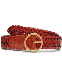 Mulberry - Classic Braided Belt In Rust Natural Leather - Lyst