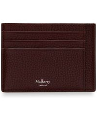 Mulberry - Card Holder In Oxblood Natural Grain Leather - Lyst