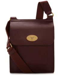 Mulberry - New Antony In Oxblood Natural Grain Leather - Lyst