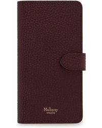 Mulberry - Iphone X/xs Flip Case In Oxblood Natural Grain Leather - Lyst