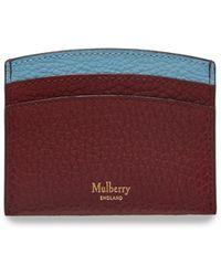 82b8154b38 Mulberry - Curved Credit Card Slip In Crimson Small Classic Grain - Lyst