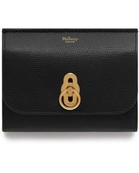 Mulberry - Amberley Medium Wallet In Black Cross Grain Leather - Lyst