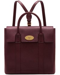 Mulberry - Bayswater Backpack In Oxblood Small Classic Grain - Lyst