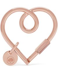 Mulberry - Heart Keyring In Rose Gold Brass - Lyst
