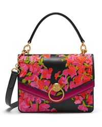 Mulberry - Harlow Satchel In Midnight Embroidered Smooth Calf - Lyst