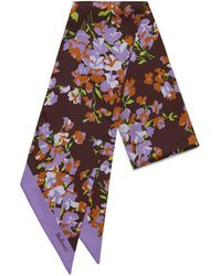Mulberry - Bag Scarf In Lilac Large Bouquet - Lyst