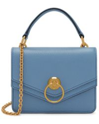 Mulberry - Small Harlow Satchel In Lavender Blue Small Classic Grain - Lyst