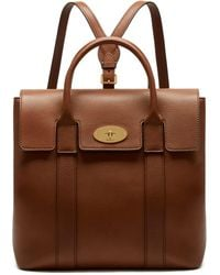 60cb0a499c44 Mulberry - Bayswater Backpack In Oak Small Classic Grain - Lyst
