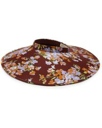 Mulberry - Wide Brimmed Visor In Lilac Solid Colour Crepe - Lyst